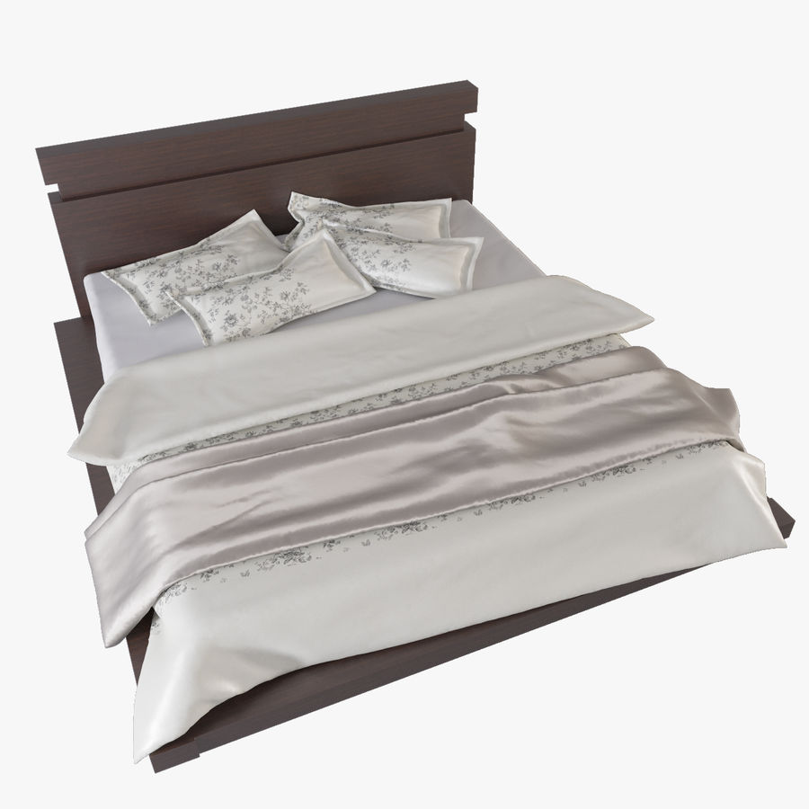 bed modern royalty-free 3d model - Preview no. 1