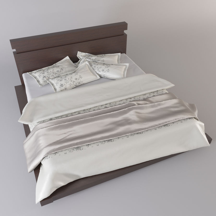 bed modern royalty-free 3d model - Preview no. 2