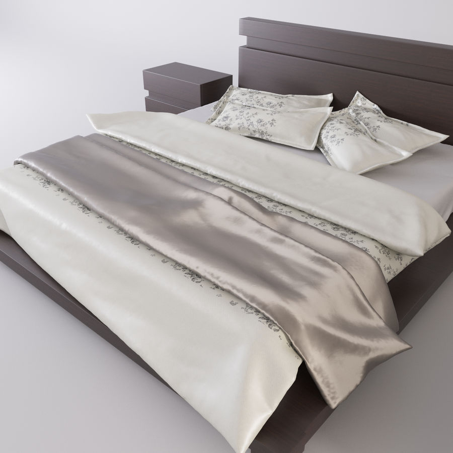 bed modern royalty-free 3d model - Preview no. 9