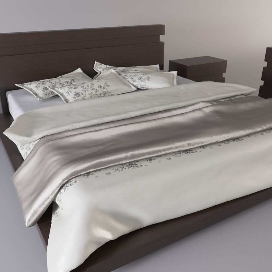 bed modern royalty-free 3d model - Preview no. 11