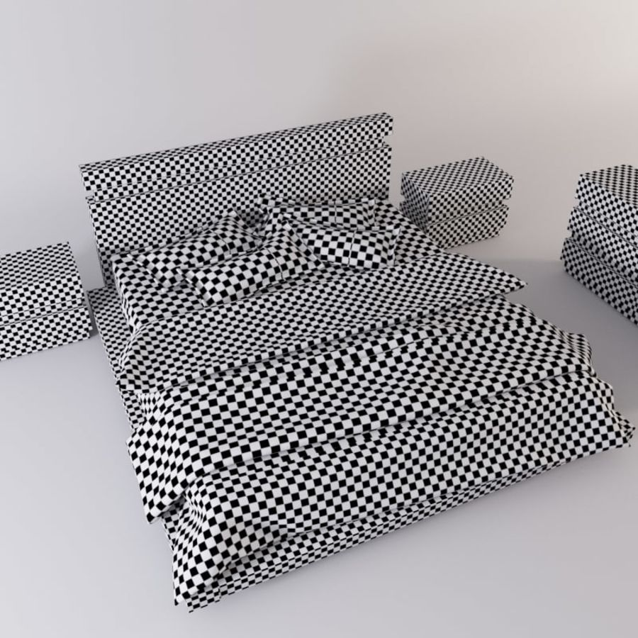 bed modern royalty-free 3d model - Preview no. 8