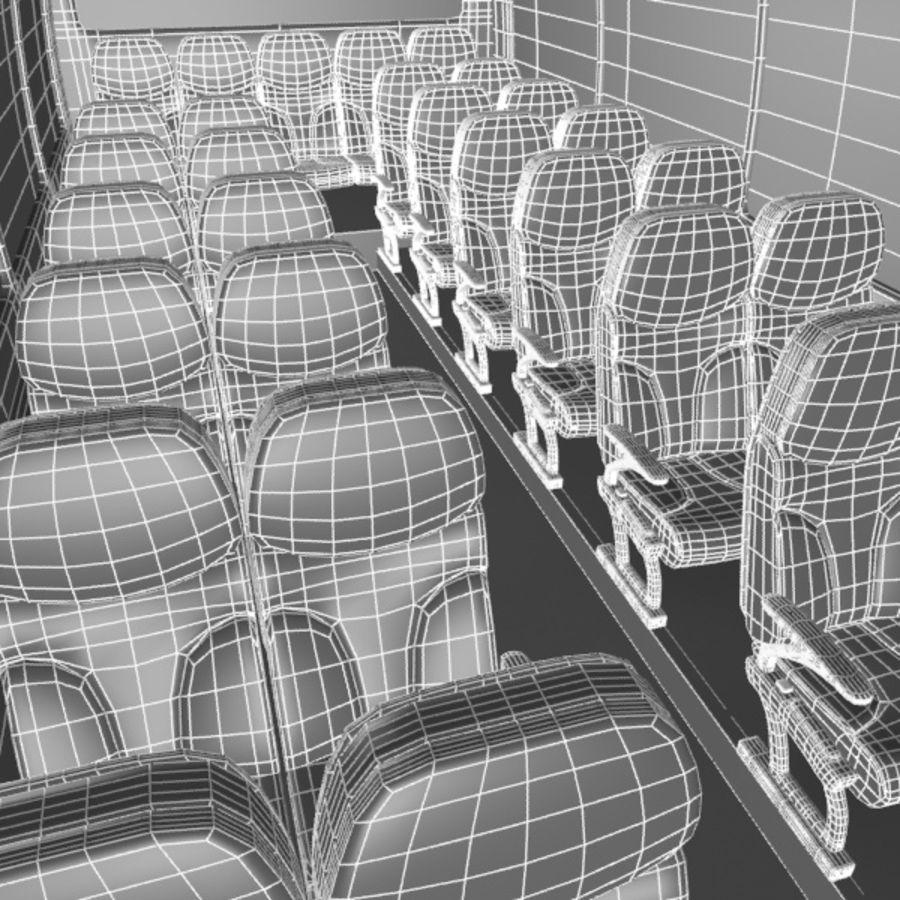 Cartoon Bus Interior royalty-free 3d model - Preview no. 10