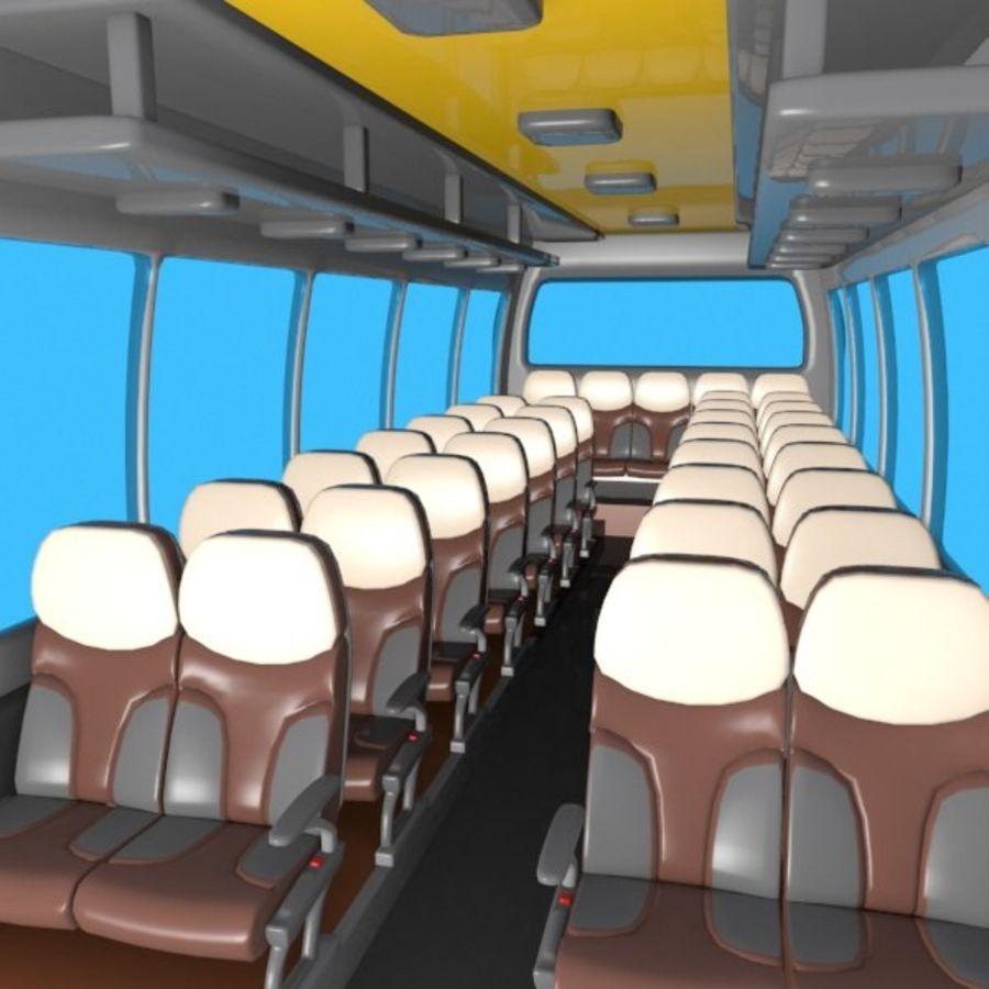 Cartoon Bus Interior royalty-free 3d model - Preview no. 2