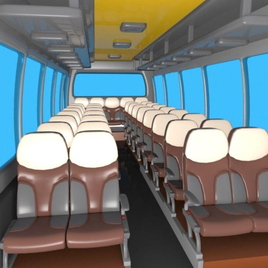 Cartoon Bus Interior royalty-free 3d model - Preview no. 3