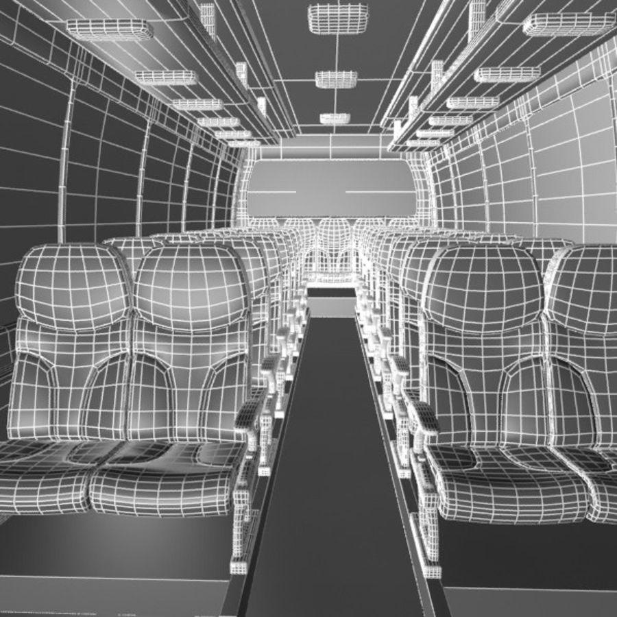 Cartoon Bus Interior royalty-free 3d model - Preview no. 7