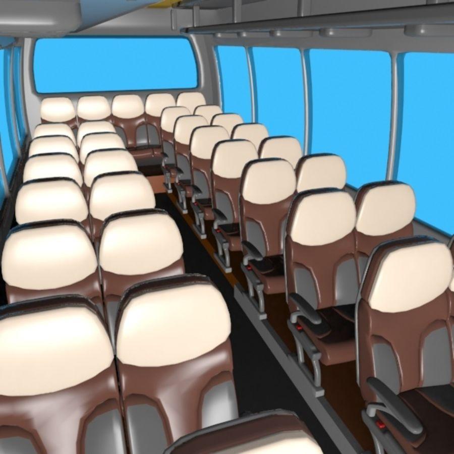 Cartoon Bus Interior royalty-free 3d model - Preview no. 4