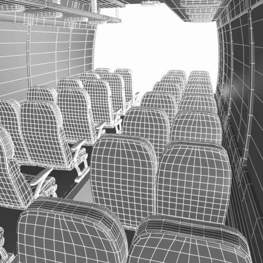Cartoon Bus Interior royalty-free 3d model - Preview no. 9