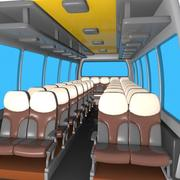 Cartoon Bus Interior 3d model