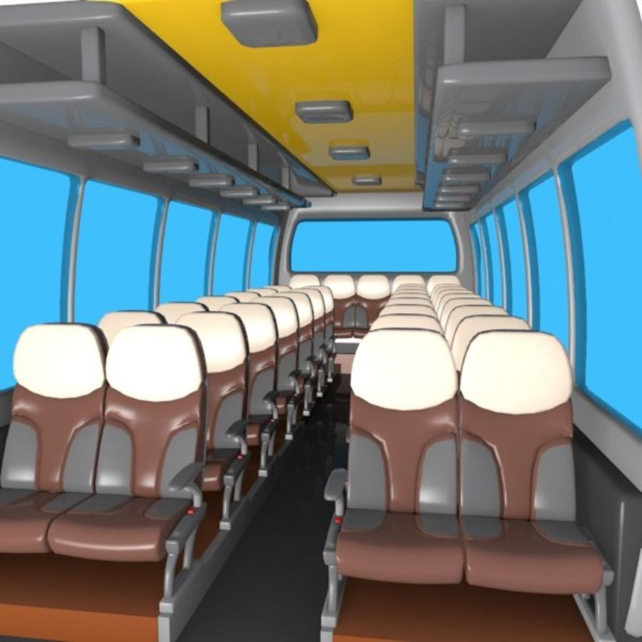 Cartoon Bus Interior royalty-free 3d model - Preview no. 1
