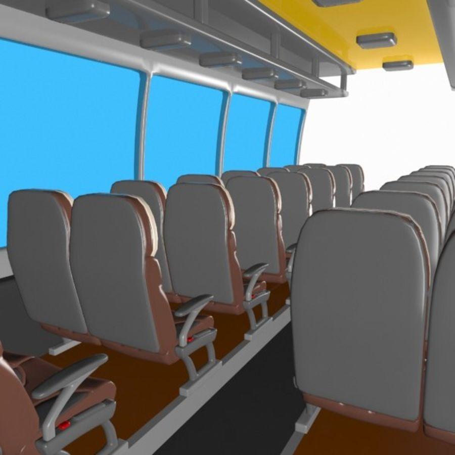 Cartoon Bus Interior royalty-free 3d model - Preview no. 5