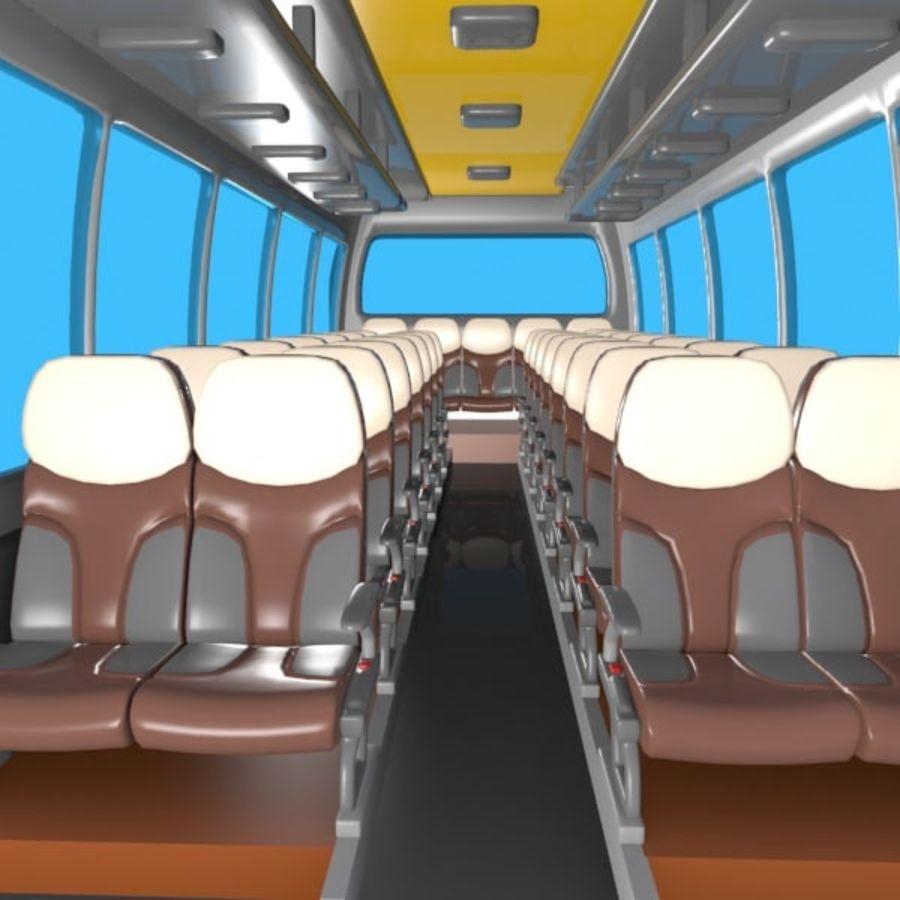 Cartoon Bus Interior royalty-free 3d model - Preview no. 6