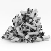 Tube poubelle 3d model