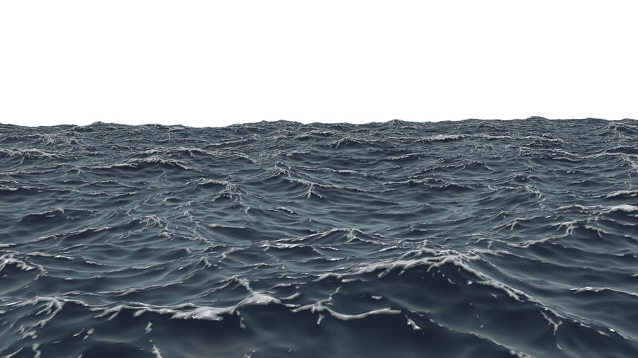 ocean V1 royalty-free 3d model - Preview no. 8