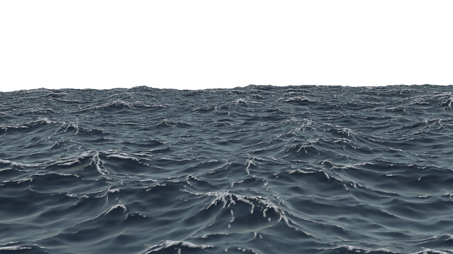 ocean V1 royalty-free 3d model - Preview no. 3