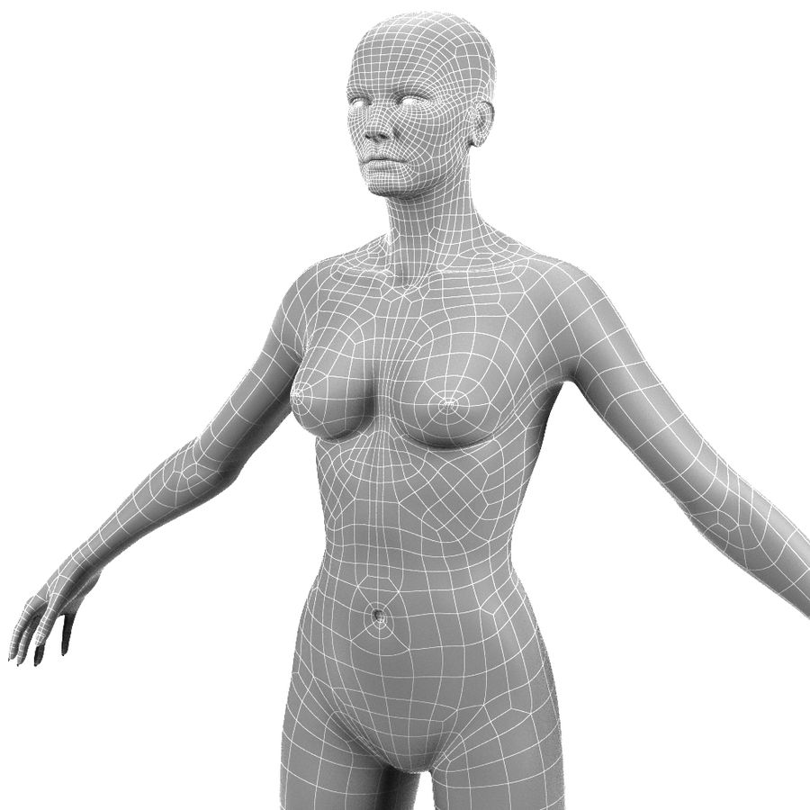 Corps féminin royalty-free 3d model - Preview no. 10