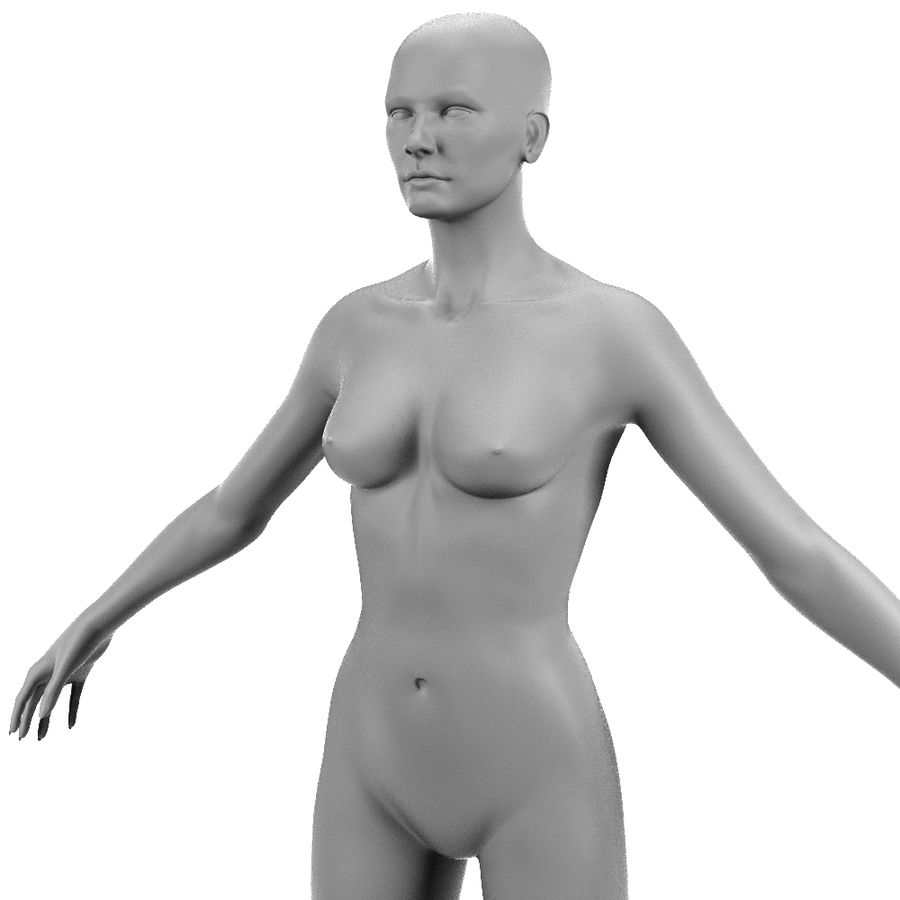 Corps féminin royalty-free 3d model - Preview no. 5