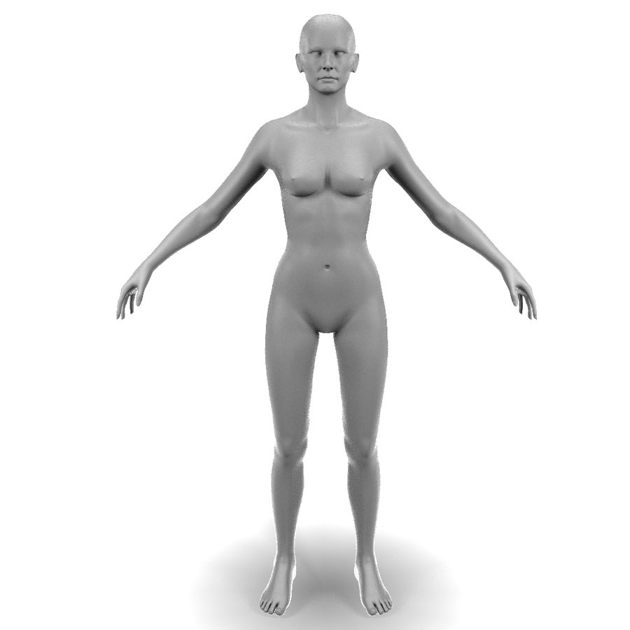 Corps féminin royalty-free 3d model - Preview no. 1