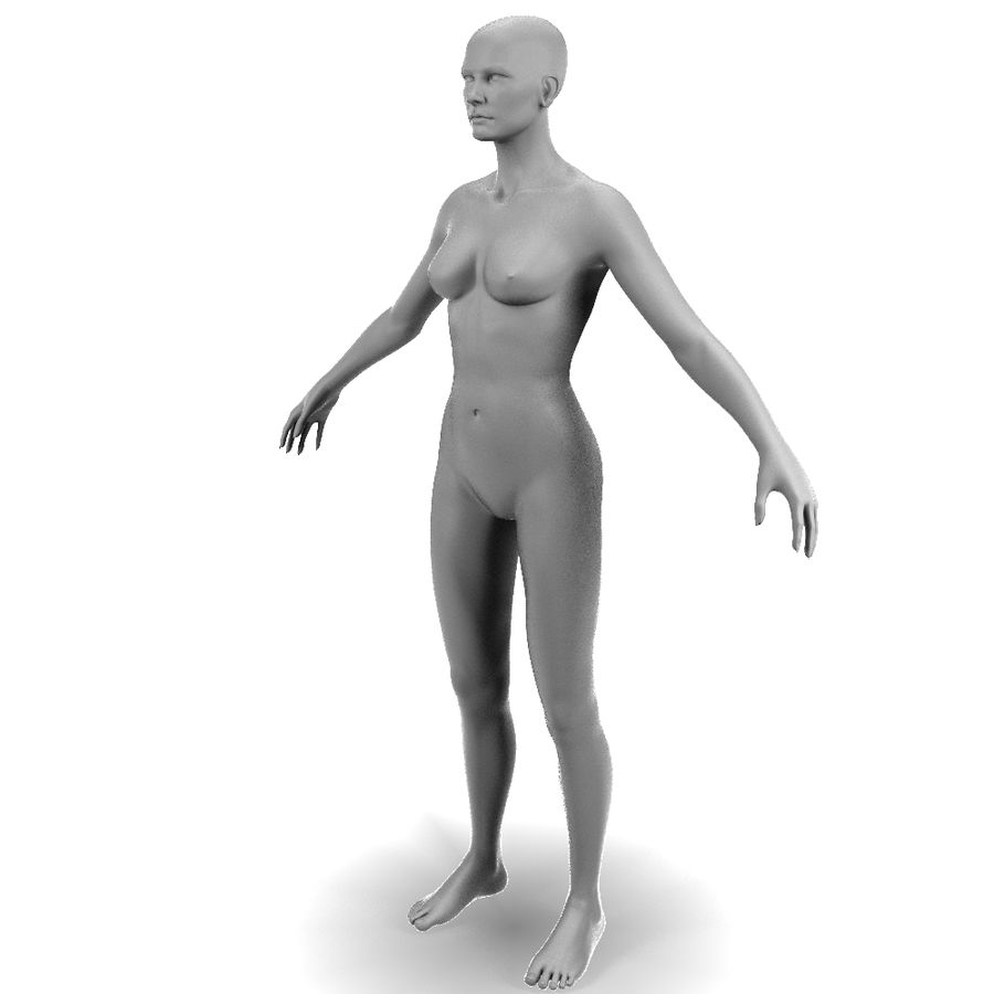 Corps féminin royalty-free 3d model - Preview no. 2