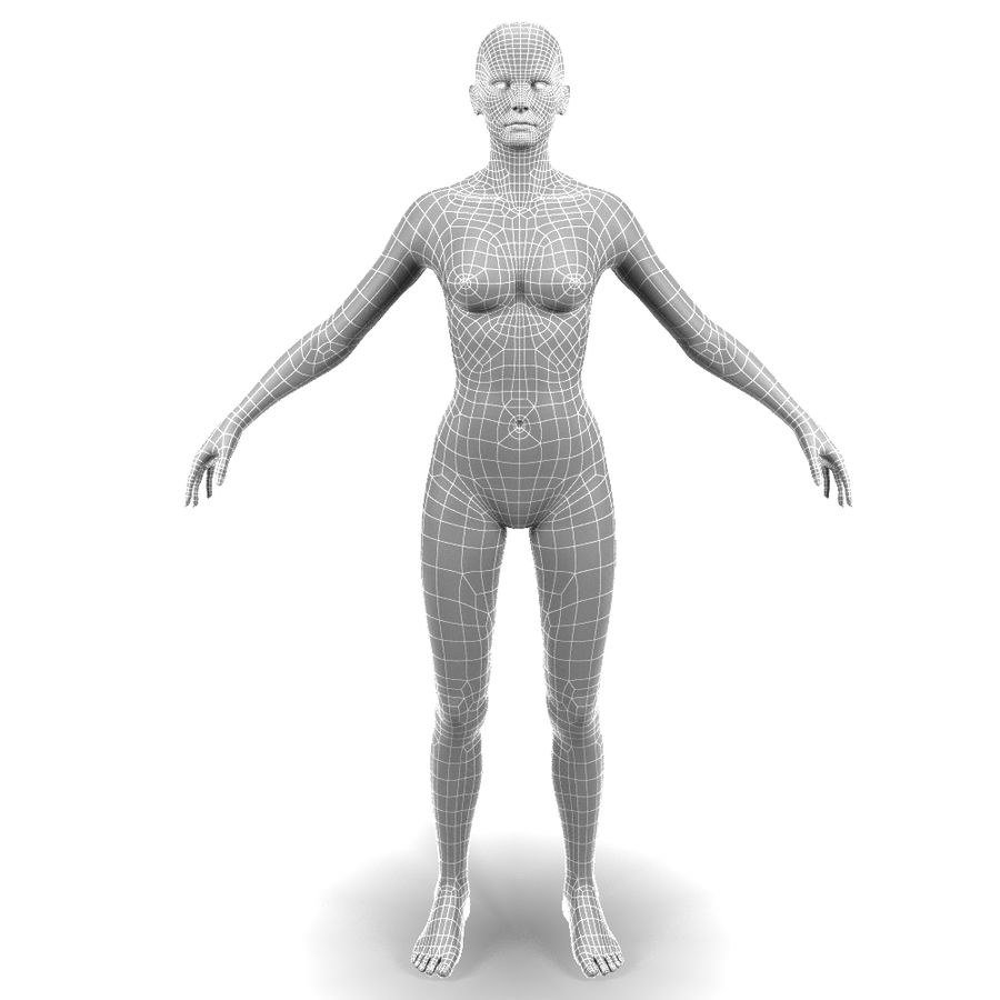 Corps féminin royalty-free 3d model - Preview no. 9