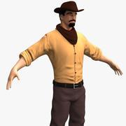 vapenlös cowboy 3d model