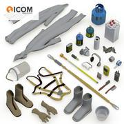 Paquete de herramientas de seguridad industrial modelo 3d