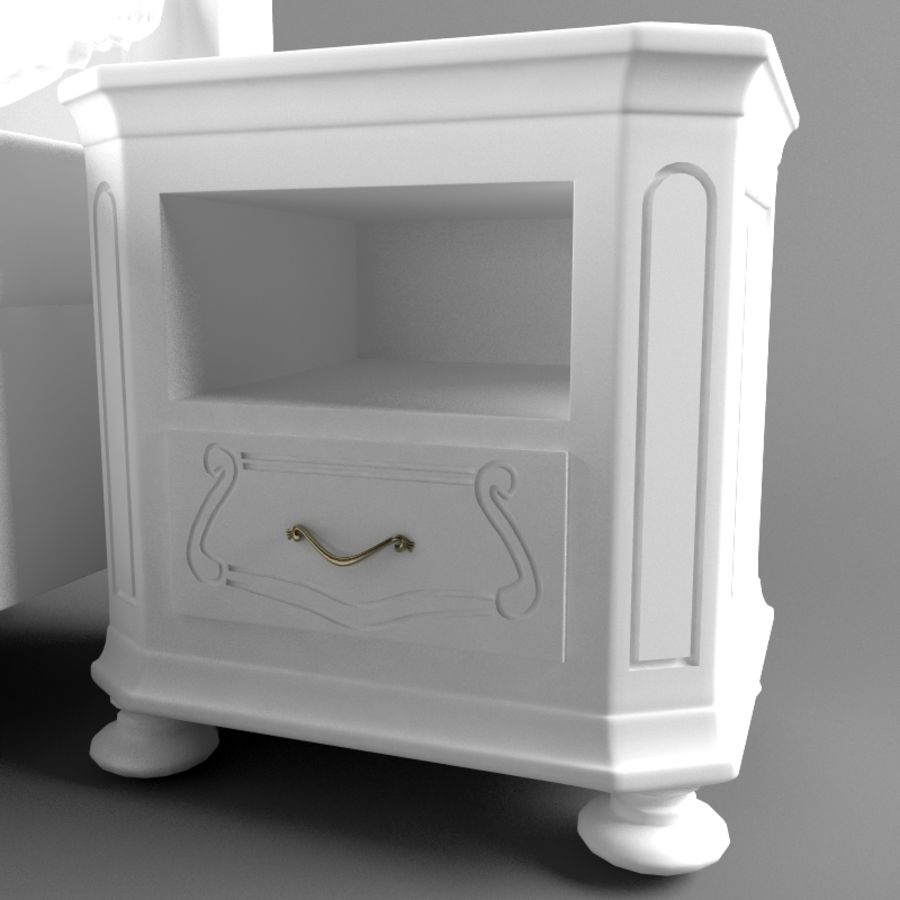 Lit de Bosphore avec table de chevet royalty-free 3d model - Preview no. 9