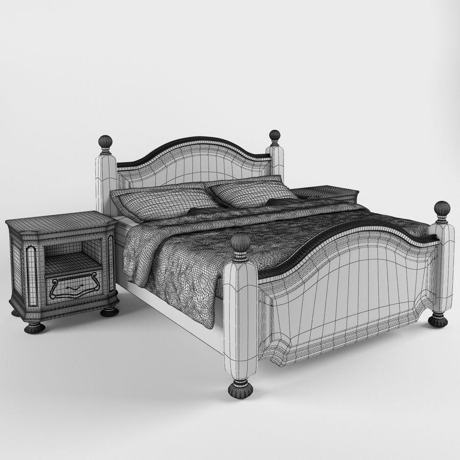 Lit de Bosphore avec table de chevet royalty-free 3d model - Preview no. 7