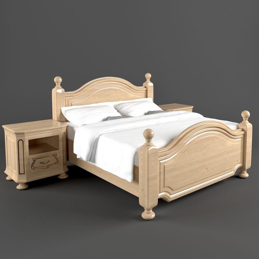 Lit de Bosphore avec table de chevet royalty-free 3d model - Preview no. 2
