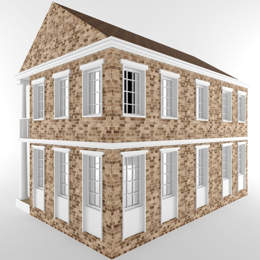 Cottage House royalty-free 3d model - Preview no. 4