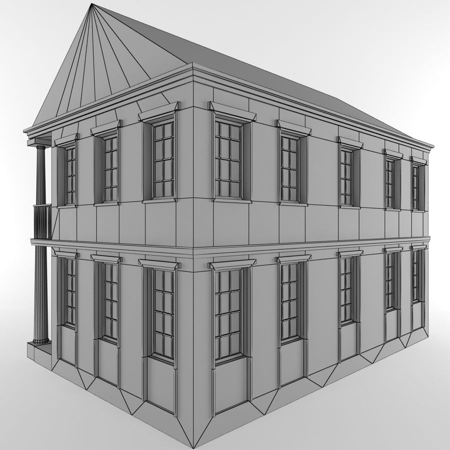 Cottage House royalty-free 3d model - Preview no. 11