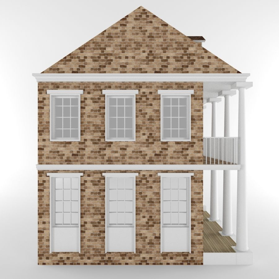 Cottage House royalty-free 3d model - Preview no. 3
