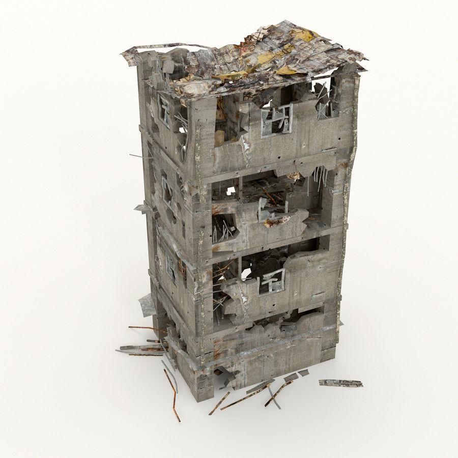 Edificio de ruinas royalty-free modelo 3d - Preview no. 5