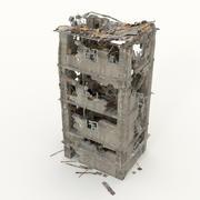 Руины здания 3d model