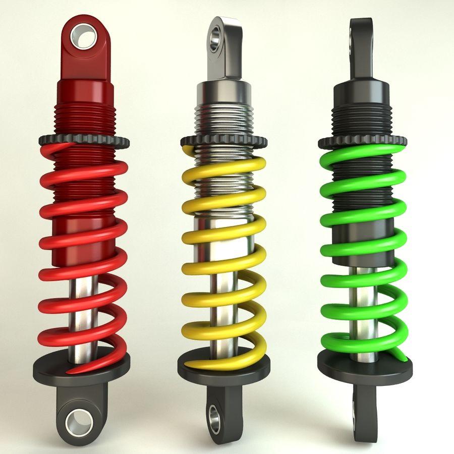 Amortiguador / Amortiguador royalty-free modelo 3d - Preview no. 8
