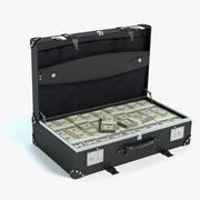 お金のブリーフケース 3d model