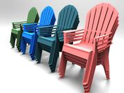plastic chair  3d models 3d model