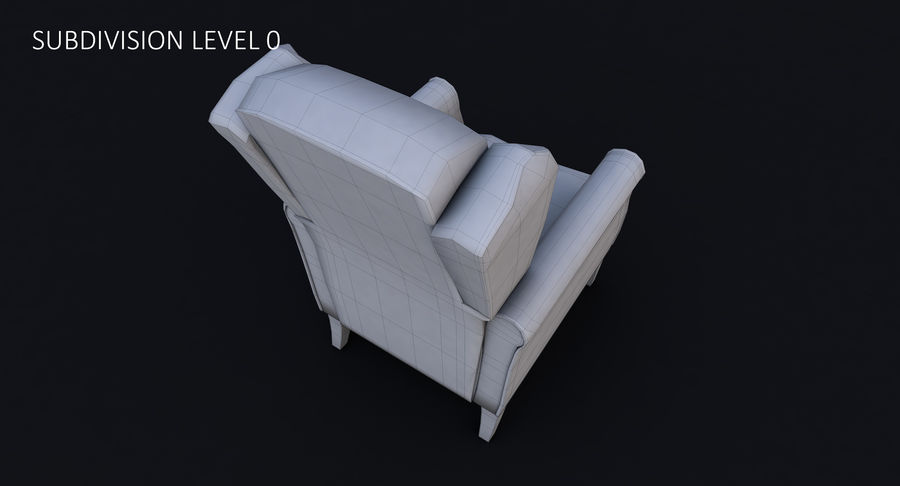 Armchair royalty-free 3d model - Preview no. 33