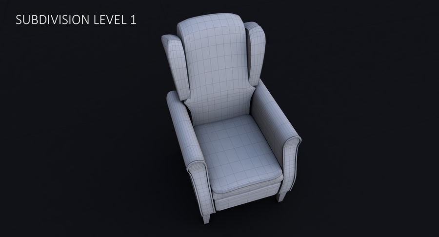 Armchair royalty-free 3d model - Preview no. 28