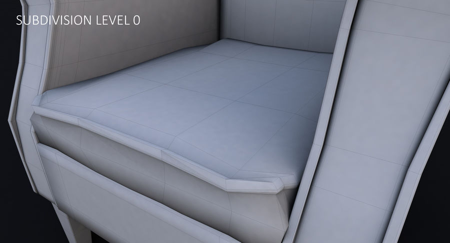 Armchair royalty-free 3d model - Preview no. 37