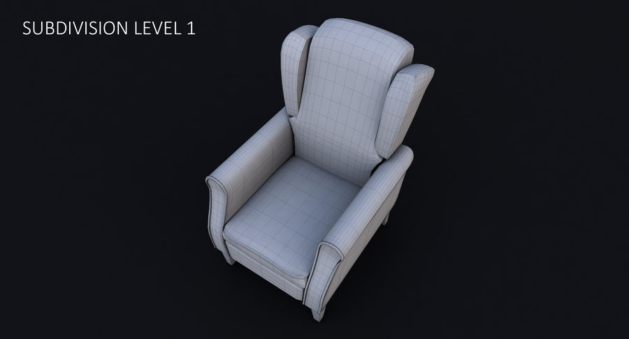 Armchair royalty-free 3d model - Preview no. 30