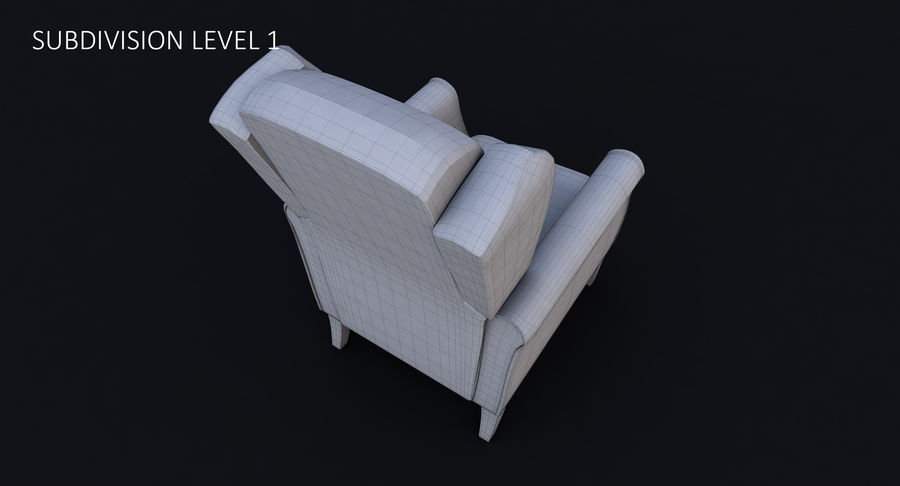 Armchair royalty-free 3d model - Preview no. 34