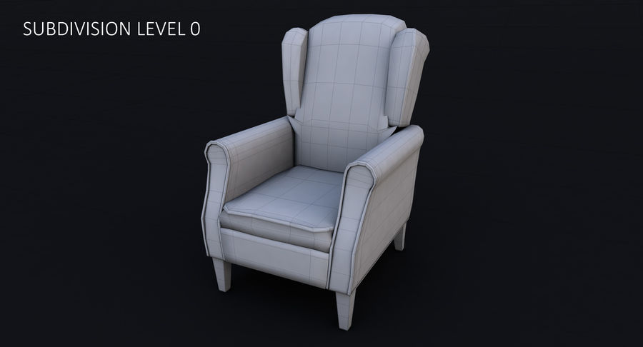 Armchair royalty-free 3d model - Preview no. 21