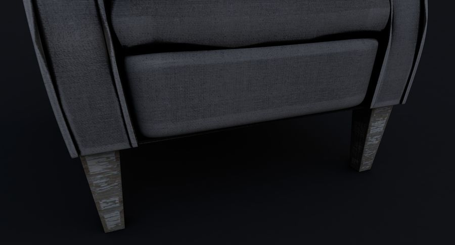 Armchair royalty-free 3d model - Preview no. 13