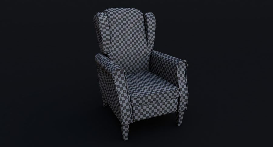 Armchair royalty-free 3d model - Preview no. 17