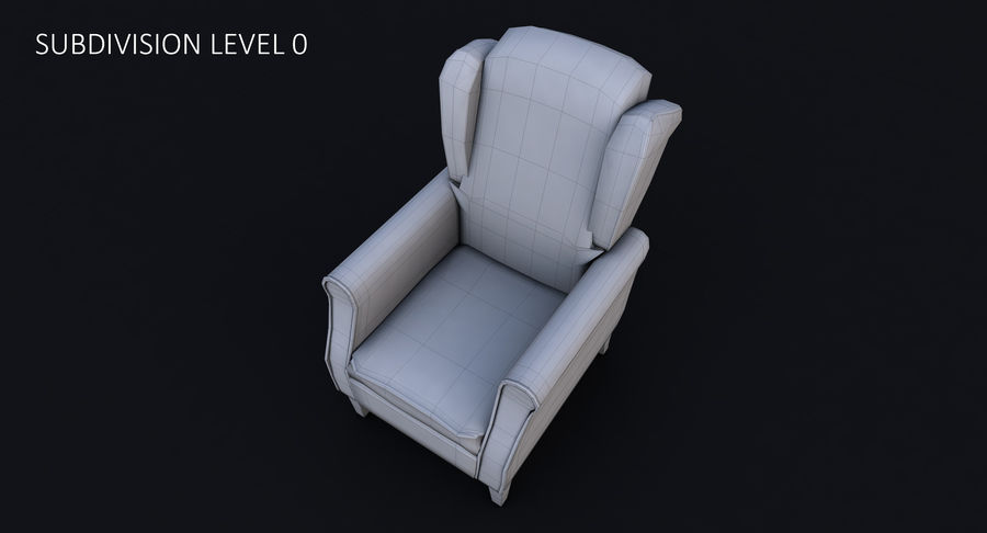 Armchair royalty-free 3d model - Preview no. 29