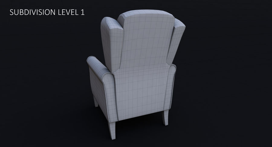 Armchair royalty-free 3d model - Preview no. 26