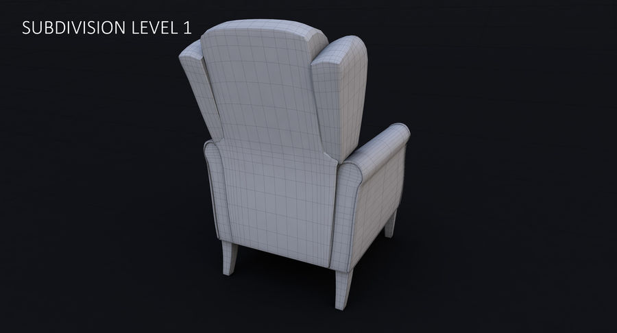 Armchair royalty-free 3d model - Preview no. 24