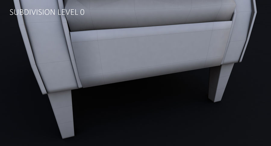 Armchair royalty-free 3d model - Preview no. 39