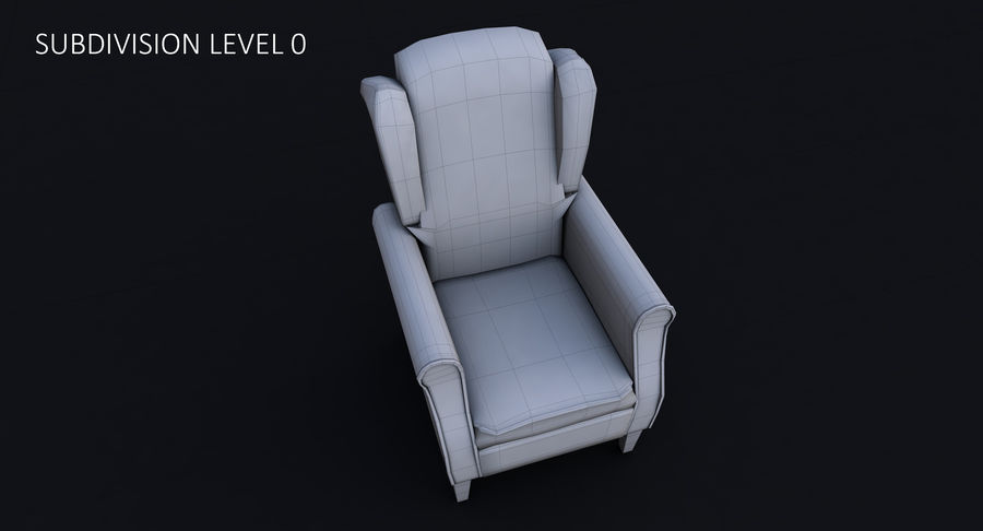Armchair royalty-free 3d model - Preview no. 27