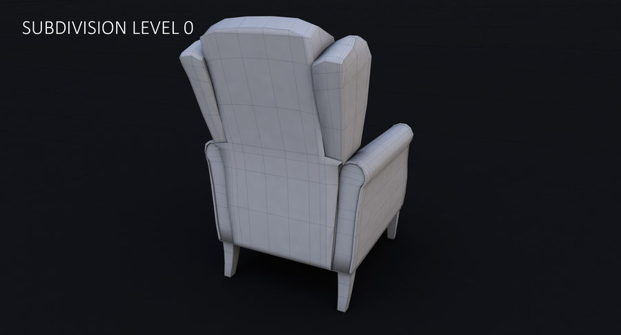 Armchair royalty-free 3d model - Preview no. 23